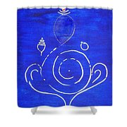 16 Ganesh Shower Curtain