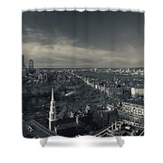 High Angle View Of A City Shower Curtain
