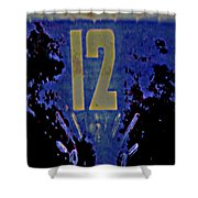 12 In  Blue Shower Curtain