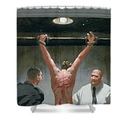 12. Jesus Is Beaten / From The Passion Of Christ - A Gay Vision Shower Curtain