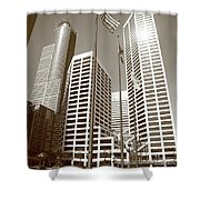 Minneapolis Skyscrapers Shower Curtain