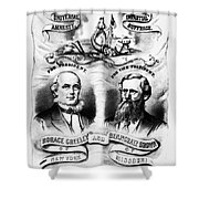 Presidential Campaign, 1872 Shower Curtain