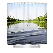 Ripples On The Saltwater Lagoon Shower Curtain