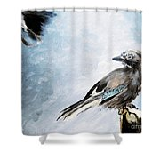 The Wintery Tales Shower Curtain