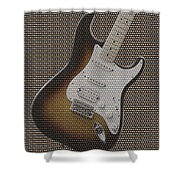 12 Thousand Electric Guitars Shower Curtain