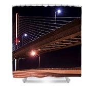 Veterans Glass City Skyway Bridge Shower Curtain