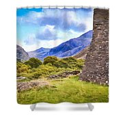 Welsh Mountains Shower Curtain