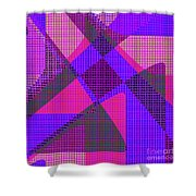 1038 Abstract Thought Shower Curtain