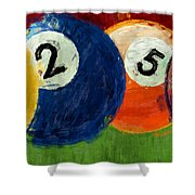 1258 Billiards Shower Curtain