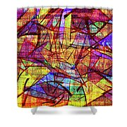 1261 Abstract Thought Shower Curtain