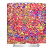 1262 Abstract Thought Shower Curtain