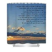129- Rumi Shower Curtain