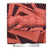 1295 Abstract Thought Shower Curtain