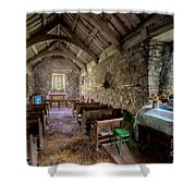 12th Century Chapel Shower Curtain by Adrian Evans