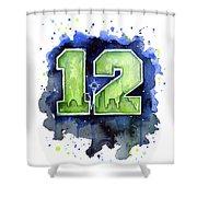 12th Man Seahawks Art Seattle Go Hawks Shower Curtain