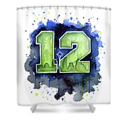 12th Man Seahawks Art Seattle Go Hawks Shower Curtain