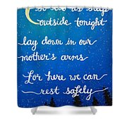 12x16 Dmb So Let Us Sleep Outside Tonight Shower Curtain