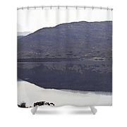 Beauty Of A Loch And Hills In The Scottish Highlands Shower Curtain