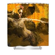 Belly Dancer Shower Curtain by Corporate Art Task Force