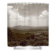 Blue Ridge Mountains - Virginia Sepia 8 Shower Curtain