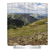 Engineer Pass In Colorado  Shower Curtain