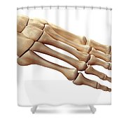 Foot Bones Shower Curtain