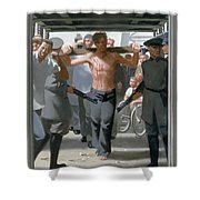 13. Jesus Goes To His Execution / From The Passion Of Christ - A Gay Vision Shower Curtain