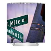 13 Mile Road And Woodward Avenue Shower Curtain