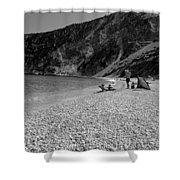 Myrtos Beach Shower Curtain