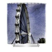 Singapore Flyer Shower Curtain