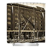St Katherine's Dock London Shower Curtain