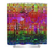 1300 Abstract Thought Shower Curtain