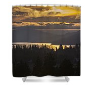 131127a-18 Sandpoint Winter Sunrise Shower Curtain