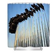 138 Black Flags Havana Cuba Shower Curtain