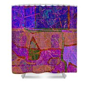 1381 Abstract Thought Shower Curtain