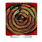 1396 Abstract Thought Shower Curtain