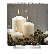 Advent Wreath Shower Curtain