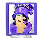 Art Deco Milly Shower Curtain