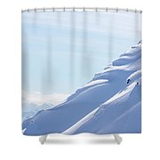 Backcountry Snowboarder Shower Curtain