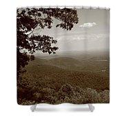Blue Ridge Mountains - Virginia Sepia 9 Shower Curtain