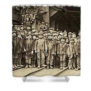 Hine Child Labor, 1911 Shower Curtain
