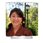 Japanese Women Shower Curtain