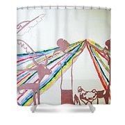 Kintu And Nambi Shower Curtain