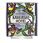 Luggage Label Shower Curtain