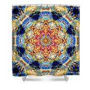 Rainbow Light Mandala Shower Curtain