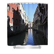 Narrow Canal Venice Italy Shower Curtain