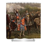 1400s Henry V Of England Speaking Shower Curtain