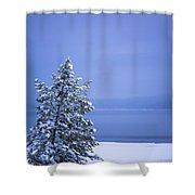 140303a-12 Winter Blues Shower Curtain