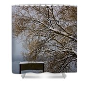 140303a-13 Winter Color Shower Curtain