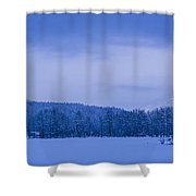 140303a-43 The Bull River Valley In Winter Shower Curtain
